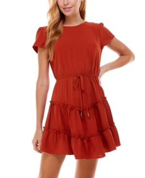 Juniors' Ruffle Tier Fit & Flare Dress