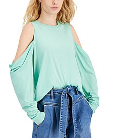 Cotton Cold-Shoulder Top, Created for Macy's