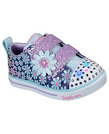 Toddler Girls Twinkle Toes - Sparkle Lite - Mini Blooms Casual Sneakers from Finish Line