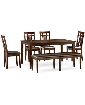 Delran 6 Piece Dining Room Furniture Set Created For Macy 39 S Furniture Macy 39 S