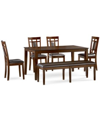 Delran 6 Piece Dining Room Furniture Set, Created For Macyu0027s,