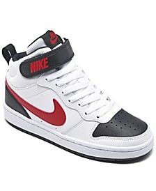 Big Boys Court Borough Mid 2 Stay-Put Casual Sneakers from Finish Line