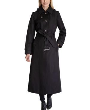 Hooded Maxi Trench Coat