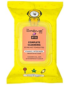 BT21 Chimmy Brighten & Clear Complete Cleansing Towelettes, 20 count