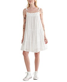 Tiered Eyelet-Embroidered Dress