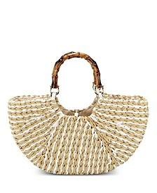 Ivah Crescent Weave Tote, Created for Macy's