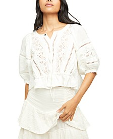 Daisy Chains Cotton Eyelet Top