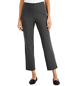 Petite Heathered Ponté-Knit Ankle Pants, Created for Macy's