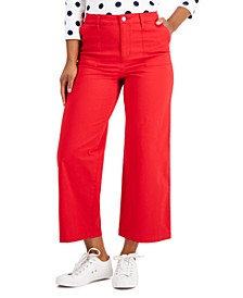 Petite Wide-Leg Jeans, Created for Macy's