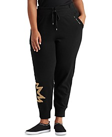 Plus-Size French Terry Jogger Pants
