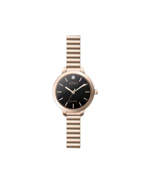 Jones New York Women's Genuine Diamond Rose Gold-Tone Expansion Bracelet Analog Watch 28mm