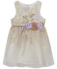 Infant Girls Floral Embroidered Dress