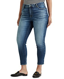Plus-Size High-Rise Skinny Ankle Jeans