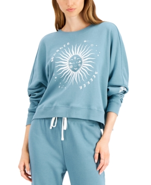 Juniors' Celestial-Print Sweatshirt