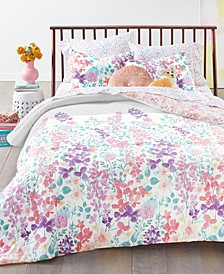 Placed Floral Comforter Sets, Created for Macy's