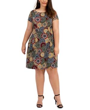 Plus Size Medallion-Print Dress