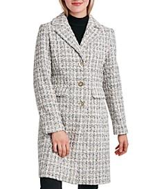 Single-Breasted Tweed Walker Coat
