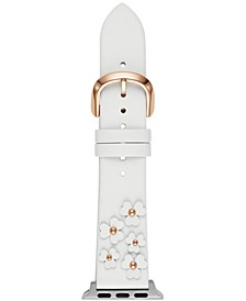 Women's White Leather 38/40mm Band for Apple Watch®