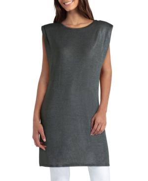 Women's Sleeveless Pleat Knit Tunic