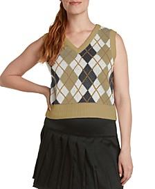 Cotton Argyle Sweater Vest
