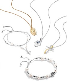 Grace & Gratitude Jewelry Collection in Fine Silver Plate or Gold Flash Plate