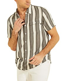 Men's Safari Stripe Button-Down Shirt