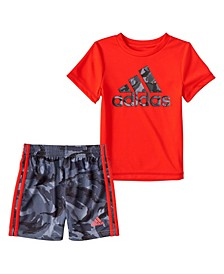 Baby Boys Action-Camo T-shirt and Shorts Set, 2 Piece