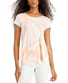 Petite Printed Scoop-Neck T-Shirt, Created for Macy's