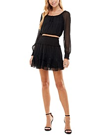 Juniors' Two-Piece Fit & Flare Dress