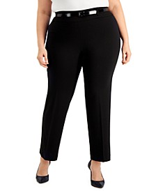 Plus Size Pull-On Bootcut Pants