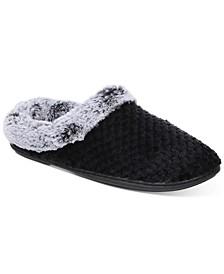 Women's Faux-Fur-Trim Hoodback Slippers, Created for Macy's