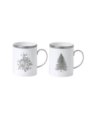 Winter White Mug, Set of 2