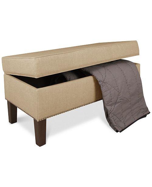 Direct Furniture Fairfax Va: Skyline Fairfax Fabric Storage Bench, Quick Ship