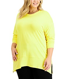 Plus Size Side-Slit Tunic, Created for Macy's