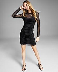 Women's Ruched Mesh Dress