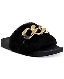 Women's Percita Chain Slippers, Created for Macy's