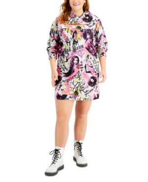 Trendy Plus Size Peek-a-Boo Hooded Dress