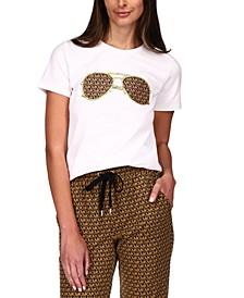 Sunglasses-Graphic T-Shirt, Regular & Petite