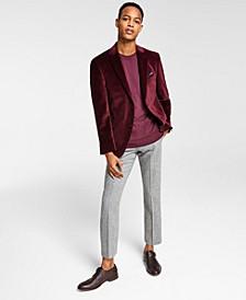 Men's Slim-Fit Solid Velvet Blazer, Created for Macy's