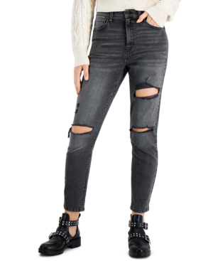 Juniors' Ripped Mom Jeans
