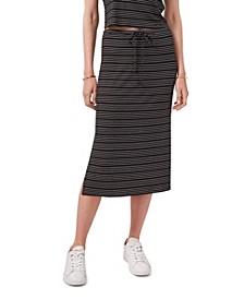 Women's Side Slit Front Tie Skirt