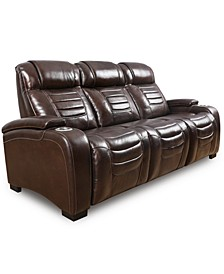 """Raylander 89"""" Leather Power Sofa, Created for Macy's"""