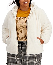 Trendy Plus Size Hooded Faux-Fur Coat, Created for Macy's