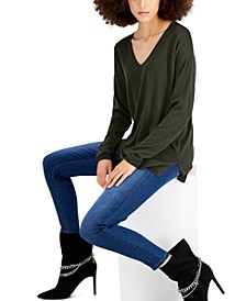 Solid V-Neck Sweater, Created for Macy's