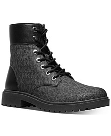 Women's Alistair Lace-Up Lug Sole Combat Booties