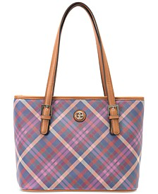 Multi Plaid Tote, Created for Macy's
