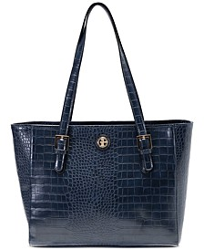 Croc-Embossed Tote, Created for Macy's