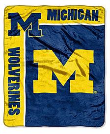 Northwest Company Michigan Wolverines Plush Team Spirit Throw Blanket