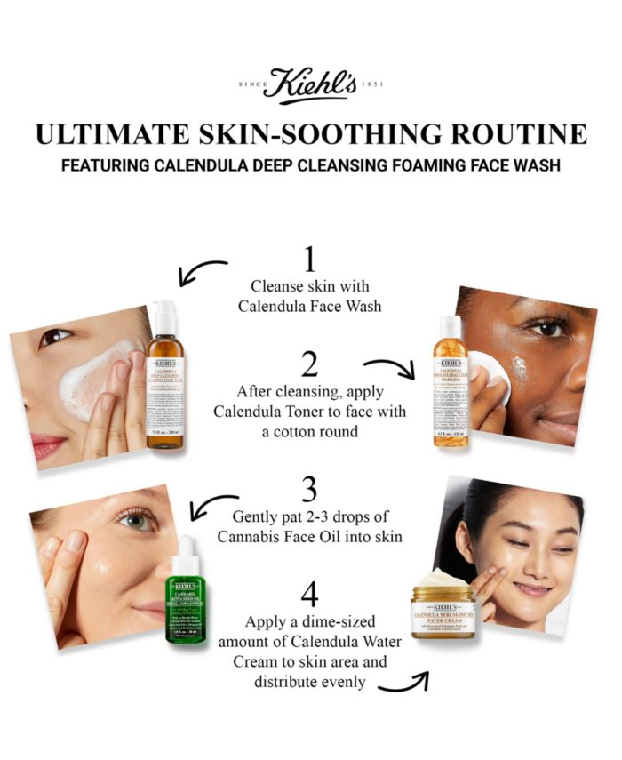 Kiehl's Since 1851 Calendula Deep Cleansing Foaming Face Wash, 16.9-oz. & Reviews - Skin Care - Beauty - Macy's