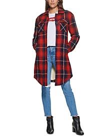 Plaid Fleece-Lined Shirt Jacket, Created for Macy's